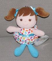 PRESTIGE STUFFED PLUSH BABY GIRL DOLL BLUE JELLYBEAN RATTLE SOFT CLOTH T... - $29.69