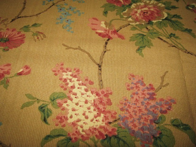 New Floral Brown Tone Fabric 1 5/8 yds Well known Manufacturer