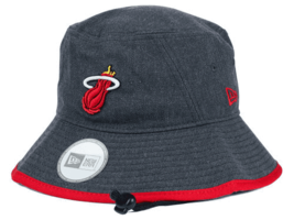 NEW ERA NBA Hardwood Classic Miami Heat Basketball Bucket Hat Mens Large... - $19.39