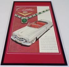 1953 Cadillac ORIGINAL Framed 12x18 Vintage Advertisement Poster - $69.29