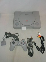 Playstation (SCPH-5501) w/ Power Cord, A/V Cables, 64 MB Memory Card, Co... - $54.99