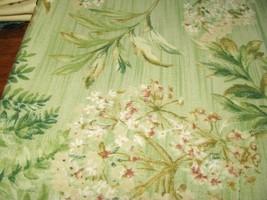 TPSA International Mint Fern Flower Cotton Deco Fabric  - $7.95
