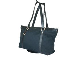 GUCCI GG Web Canvas Leather Black Shoulder Bag GS2456 - $298.00