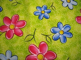Watercolor Flower Colorful Cotton Deco Fabric 1 yd - $7.95