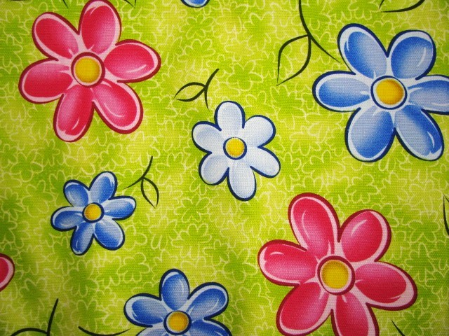 Watercolor Flower Colorful Cotton Deco Fabric 1 yd