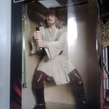 Star Wars Episode1 Qui-Gon Jinn Collectible Action Figure-Light up Saber... - $49.99