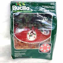 Bucilla Christmas Cameos Jeweled Felt Snowman Tree Skirt Kit 48978 Vintage - $46.39
