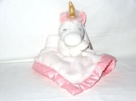 NWT Carters Plush Stuffed Animal Unicorn White Pink Soft Security Blanke... - $24.99