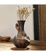 Grey Lotus Flower Backflow Incense Burner Vase, 5.5in - $38.75