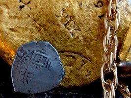 MEXICO 4 REALES 1650 DATED 1715 FLEET Fisher PENDANT PIRATE GOLD COINS T... - $1,250.00