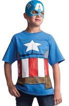 Captain America Top Mask Avengers Assemble Marvel Halloween Child Costume Access - $26.45