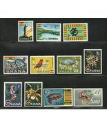 Ghana 1965 Scott# 216-226 MNH - $4.90