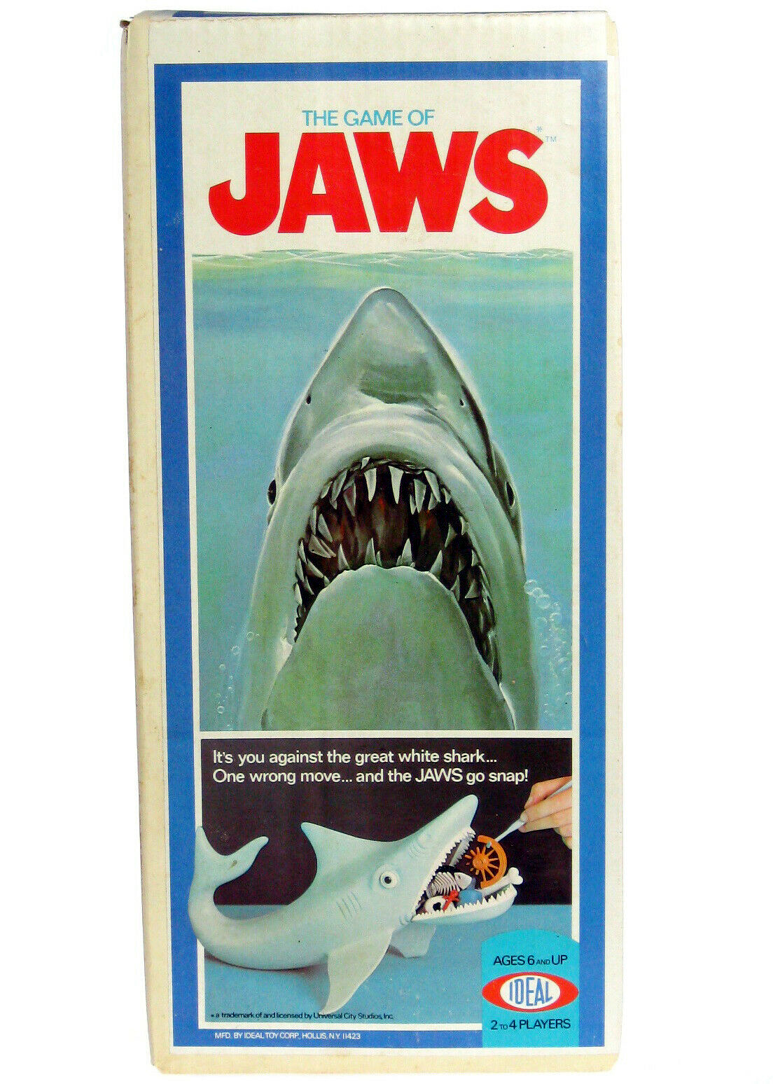 Vintage 1975 Ideal JAWS The Great White Shark Game Complete w/Hook & Box - $999.99