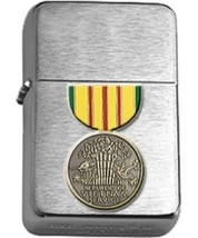 Brushed Chrome Vietnam Service Star Lighter - $14.84