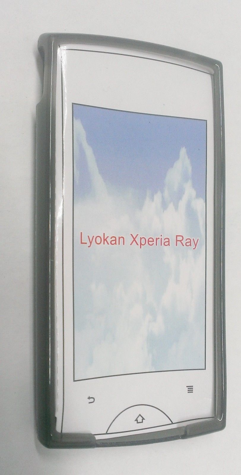 New Clear TPU Gel Skin Cover Soft Case for Sony Xperia Ray ST18A - Smoke Black