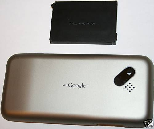 OEM HTC G1 Google Back Cover Door - White + Battery