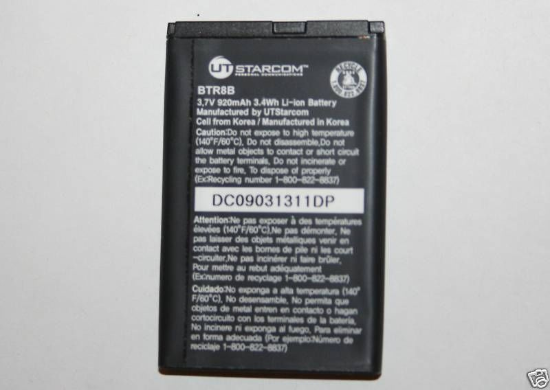 OEM UTStarcom BATTERY BTR8B Blitz TXT8010 Cricket
