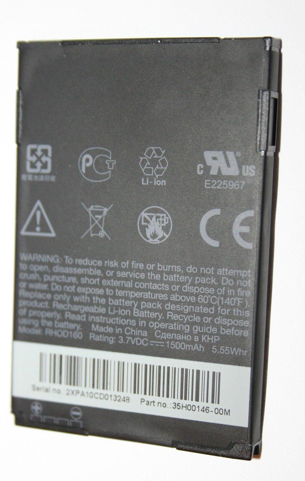 OEM Battery for HTC Evo Shift 4G Sprint RHOD160 1500mAh Part no. 35H00146-00M