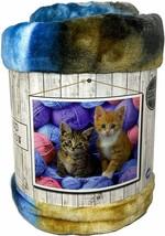 Heartland Plush Throw 50 x 60 inch Two Kittens with Yarn NIP - $29.69
