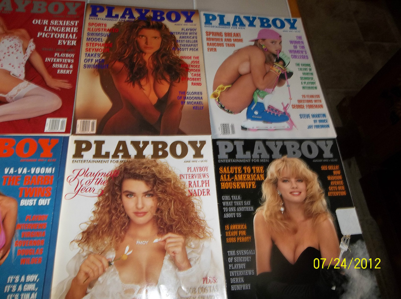 1992 PLAYBOY MAGAZINE Lot Of 9 Issues