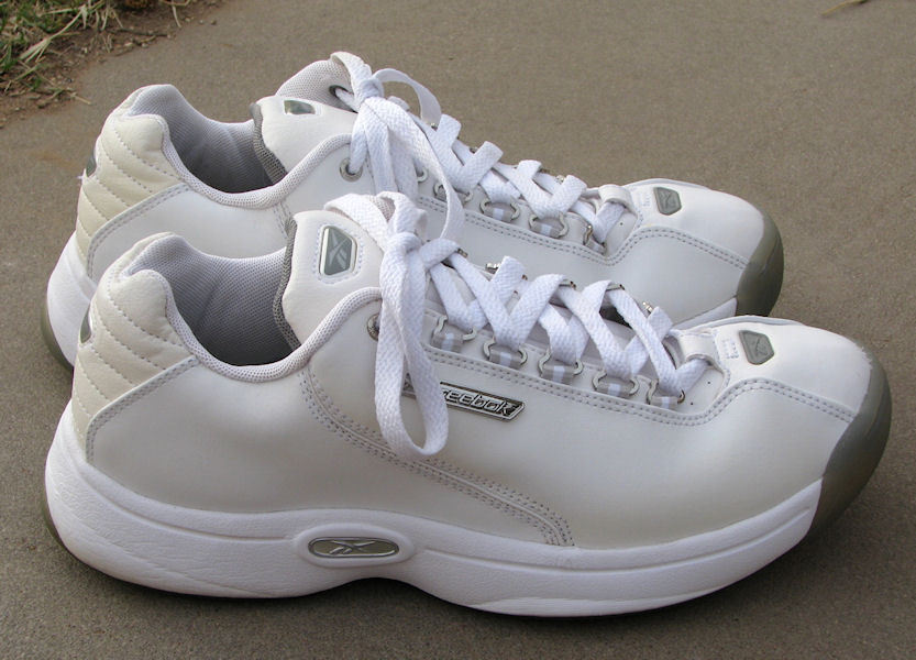 Men s Reebok White Leather Sneakers Shoes and 50 similar items 0452f54f8