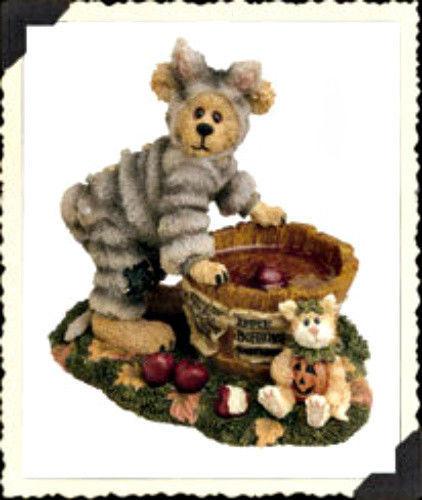 "Boyds Bearstone ""Bobbit Whiskerdippin' & Jack...Last Chance"" #228336-1E-NIB-2000"