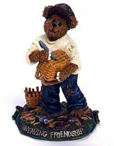 "Boyds Bearstone""Kenny B. Weaver.. Weaving Friendship"" #228425LB -LE- NIB-2003"