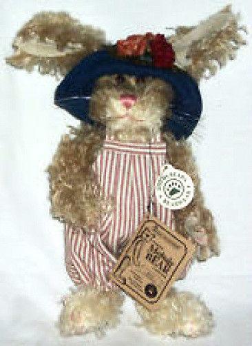 """Boyds Bear """"Edith Q. Harrington II"""" 10"""" Mohair Bunny* #5901600-03 *New* Retired"""