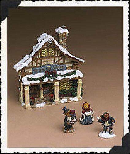 "Boyds Bearstone ""Dickens Tea Shoppe Pac"" Set of 4 -Style #24806-  1E- NIB -2004"