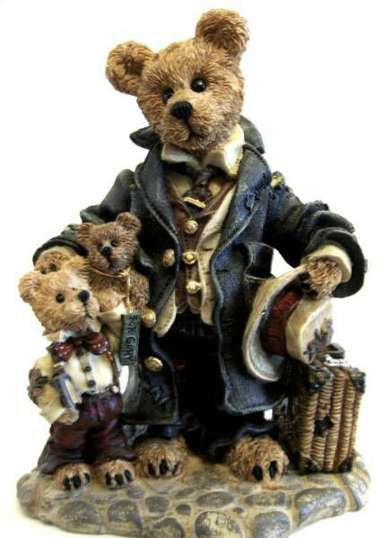 "Boyds Bearstone ""Uncle Gus & Gary.. The Gift"" #99526V-QVC LE- NIB- 1997-Retired"
