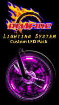 Rimfire Custom Color LED Pack, bicycle wheel lights Burning Man Safety a... - $9.99