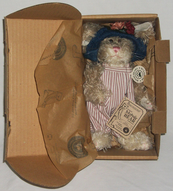 """Boyds Bear """"Edith Q. Harrington II"""" 10"""" Mohair Bunny* #5901600-03 *New* Retired image 2"""