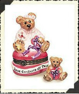 "Boyds Bears-LeBearmoge Porcelain Box ""Bailey...Hearts Desire"" #392009- 2... - $12.99"