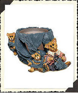 "Boyds Folkstone Votive""Darby & Jasper..Knittin' Kittens""#27802*NEW*1998*... - $21.99"