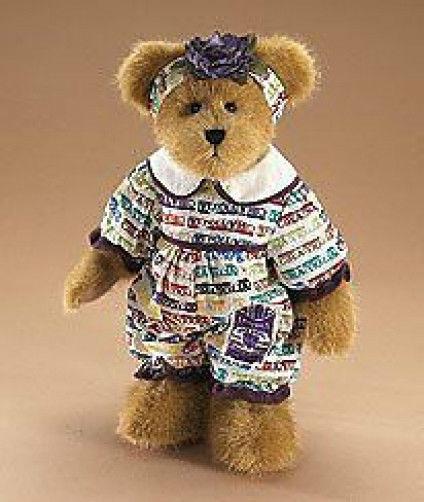 "Boyds Bear ""Madeline Bearsley"" 12"" Licensed Plush Bear -#919139 - NWT- 2008-Ret"