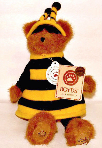 "Boyds Bears ""Buzzy Beeboy"" 11"" LE Longaberger Plush Bear #95357LB- NWT -Retired"