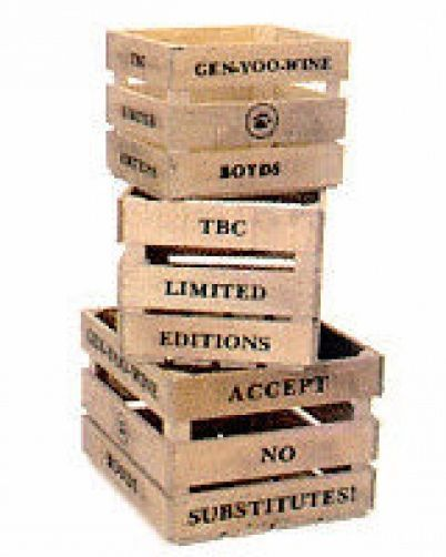 """Boyds Collection -Accessory """"Ltd. Edition Antique Crates"""" #654908- New-  Retired"""