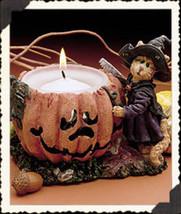 "Boyds Purrstone Votive ""Sabrina Punkinpuss #81011- Candle -NIB-2000-Retired image 1"