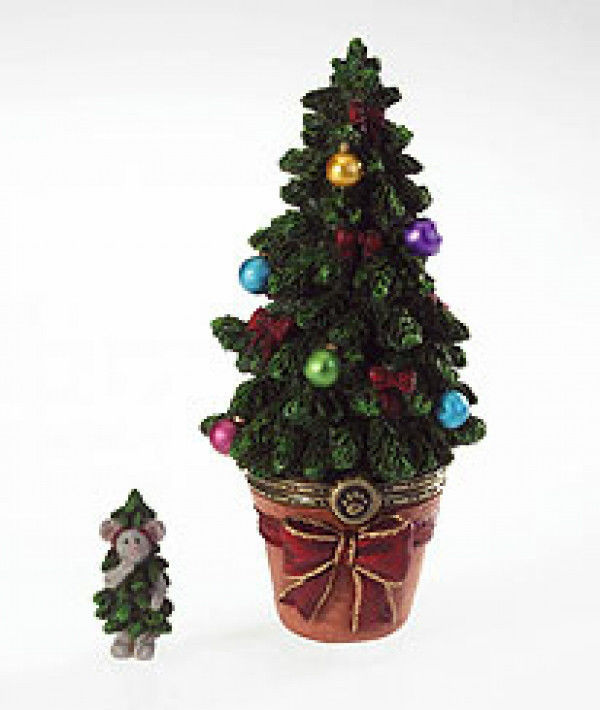 "Boyds Treasure Box ""Aunt Nettie's Holiday Tree w/Tanner Mcnibble""#4022282-1E-NIB image 1"