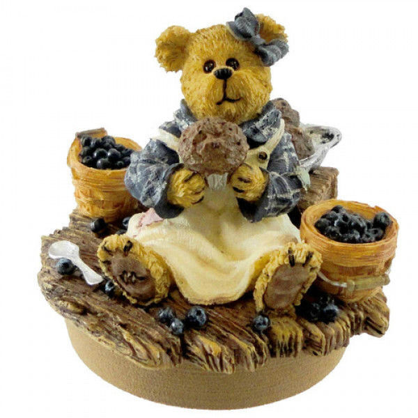 """Boyds Candle Topper """"Muffin B. Bluebeary"""" - #651216YC- Resin~ NIB- Retired"""