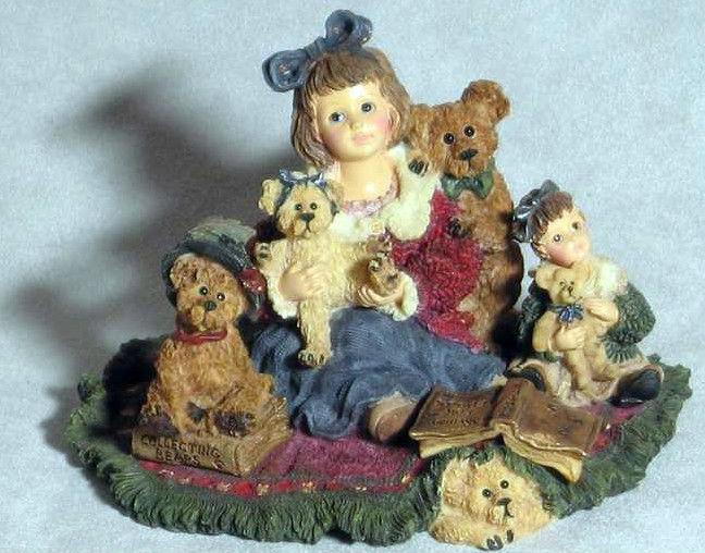"""Boyds Dollstone """"Kelly & Company..The Bear Collector"""" #3542-1E-NIB-2000- Retired"""