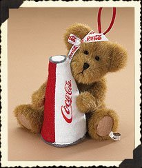 "Boyds Bear ""Nancy"" 6.5"" Coca-Cola® Plush Ornament- #919965 - NWT- Retired"