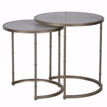 Contemporary Style Eclipse Stacking Tables, Set of two, Gray - $408.16