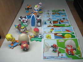 Kinder - 2009 Looney Tunes Active - complete set + 9 papers - surprise eggs - $13.00