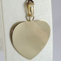 18K YELLOW GOLD HEART, PHOTO & TEXT ENGRAVED PERSONALIZED PENDANT 30 MM, MEDAL  image 3