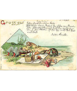 Gruss aus Germany vintage 1898 Post Card - $15.00