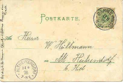 Gruss aus Germany vintage 1898 Post Card