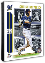 Christian Yelich 2019 Milwaukee Brewers -16x20 Action+ Photo on Stretched Canvas - $89.99