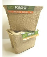 2 Igloo Reusable Biodegradable Recycable Ice Food Cans Cooler Hike Fish ... - $49.49