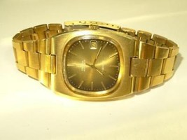 70s Omega Geneve Gold Plated 166.0191 Cal. 1012 23J Automatic Day Date W... - $827.30